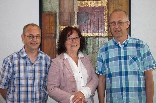 v.l.n.r.: Franz-Josef Weigand, Roswitha Böhm, Karl Heinz Weigand